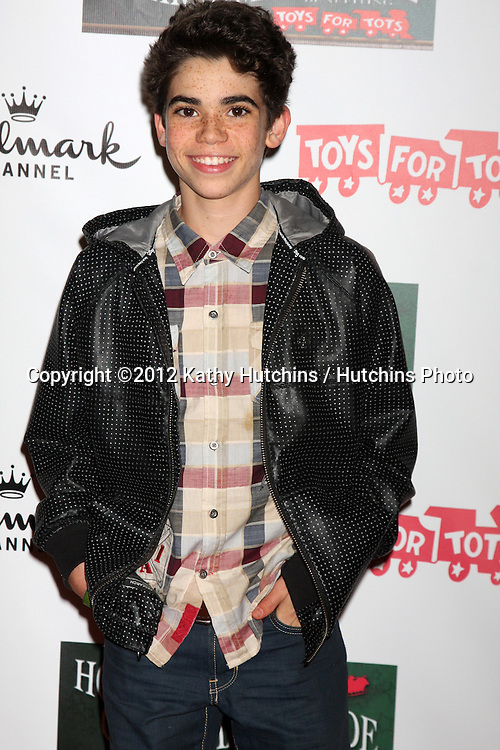 LOS ANGELES - NOV 25:  Cameron Boyce arrives at the 2012 Hollywood Christmas Parade at Hollywood & Highland on November 25, 2012 in Los Angeles, CA