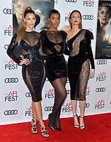 "LOS ANGELES, USA. November 20, 2019: Tiffany Keller, Shae Scott & Gemma Vence at the gala screening for ""The Aeronauts"" as part of the AFI Fest 2019 at the TCL Chinese Theatre.<br /> Picture: Paul Smith/Featureflash"