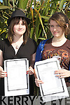 Colaiste na Sceilge students l-r; Susan Kennedy and Siobhan O'Neill received their leaving cert results yesterday in Cahersiveen.