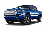 Stock pictures of low aggressive front three quarter view of 2016 Toyota Tacoma TRD Sport 4 Door Pickup Low Aggressive