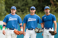 26 july 2010: David Gauthier, Kenji Hagiwara and Pierrick Le Mestre, of France, are seen prior to France 10-2 victory over Ukraine, in day 4 of the 2010 European Championship Seniors, in Neuenburg, Germany.