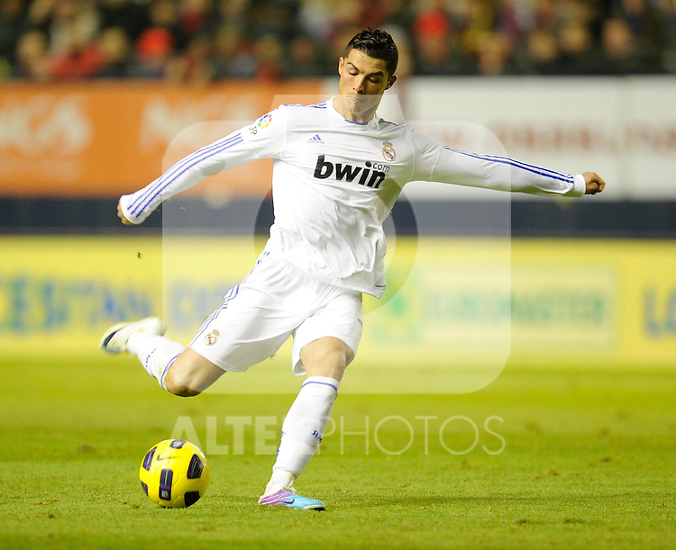 Spanish league match Osasuna vs Real Madrid. Cristiano Ronaldo...Photo : Ricardo Ordonez / ALFAQUI.