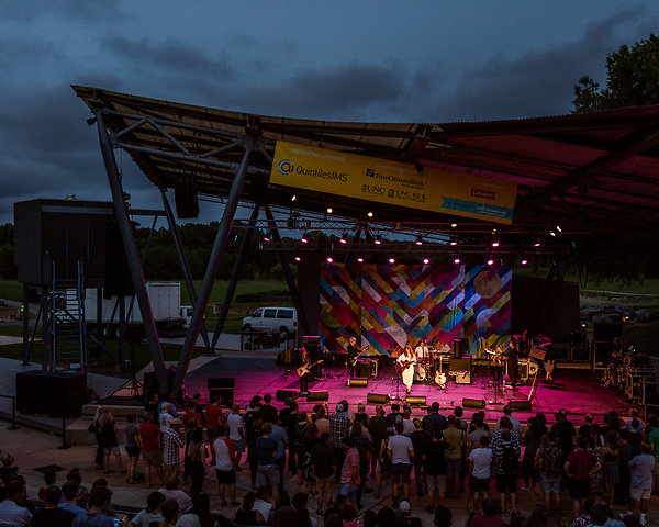 Raleigh, North Carolina- August 11, 2017<br /> <br /> Waxahatchee on stage at the NCMA. <br /> <br /> Ex Hex and Waxahatchee played an outdoor concert with MERGE Records label mates Superchunk at the North Carolina Museum of Art. (Photo by Jeremy M. Lange for The New York Times)