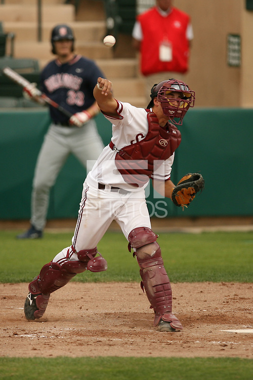 25 April 2007: Jason Castro during Stanford's 7-2 win over Fresno State at Sunken Diamond in Stanford, CA.