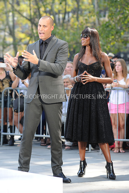 WWW.ACEPIXS.COM<br /> September 11, 2013 New York City<br /> <br /> Naomi Campbell taping a segment for 'The Face' in Bryant Park on September 11, 2013 in New York City.<br /> <br /> By Line: Kristin Callahan/ACE Pictures<br /> <br /> ACE Pictures, Inc.<br /> tel: 646 769 0430<br /> Email: info@acepixs.com<br /> www.acepixs.com<br /> Copyright:<br /> Kristin Callahan/ACE Pictures