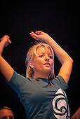 A female dancer from sweden on the stage during the IST opening ceremony