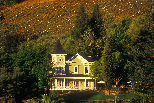 Victorian house which is St. Clement Vineyards, St. Helena