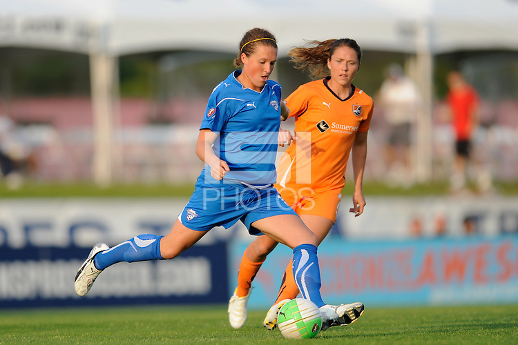 Kasey Moore (17) of the Boston Breakers. Sky Blue FC and the Boston Breakers played to a 0-0 tie during a Women's Professional Soccer (WPS) match at Yurcak Field in Piscataway, NJ, on May 29, 2010.
