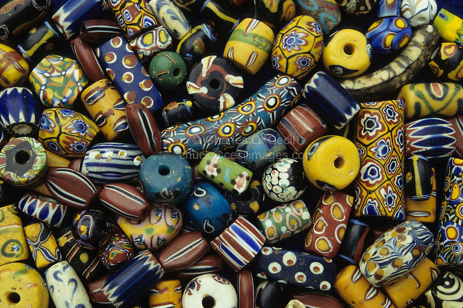 Abidjan, Ivory Coast, Cote d'Ivoire.  African Beads, mostly of Italian Manufacture.