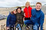 The Prudnikovas family enjoying a stroll on Banna Beach on Sunday.<br /> Paula, Magnus, Karina and Ivar Prudnikovas.