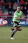 Alex Baptiste of Sheffield Utd in action - English League One - Fleetwood Town vs Sheffield Utd - Highbury Stadium - Fleetwood - England - 5rd March 2016 - Picture Simon Bellis/Sportimage