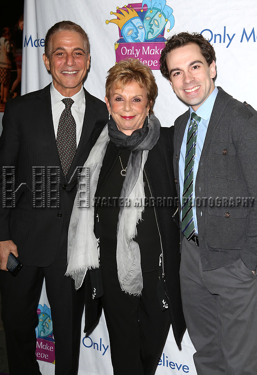 Tony Danza, Dena Hammerstein and Rob McClure attend the 14th Annual 'Only Make Believe' Gala at the Bernard B. Jacobs Theatre on November 4, 2013  in New York City.