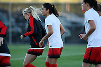 Piscataway, NJ - Sunday Sept. 25, 2016: Nadia Nadim prior to a regular season National Women's Soccer League (NWSL) match between Sky Blue FC and the Portland Thorns FC at Yurcak Field.