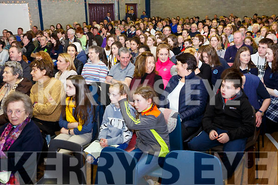 Full house at the Castleisland Presentation Schools Talent show in the school hall last Thursday.