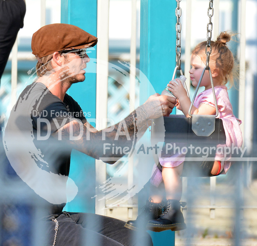 NEW YORK 091013<br /> ************WORLD RIGHTS ONLY*******<br /> PICTURES BY:  EAGLEPRESS<br /> FEE MUST BE AGREED PRIOR PUBLICATION<br /> NO WEB USE WITHOUT PRIOR AGREEMENT<br /> ----------------------------------<br /> DAVID BECKHAM PLAYING WITH HARPER IN THE PLAYGROUND IN NEW YORK<br /> ----------------------------------<br /> CONTACT: <br /> photos@eaglepress.us<br /> INFO +1 917 7100494