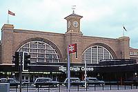 London: King's Cross Station, Euston Road. Lewis and Jos. Cubitt, 1851-52.