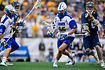 FOXBORO, MA - MAY 28: Billy Koelmel #66 of the Limestone Saints during the Division II Men's Lacrosse Championship held at Gillette Stadium on May 28, 2017 in Foxboro, Massachusetts. (Photo by Larry French/NCAA Photos via Getty Images)