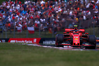 #16 Charles Leclerc, Scuderia Ferrari. Hungarian GP, Budapest  2-4 August 2019.<br /> Budapest 03/08/2019 GP Hungary <br /> Formula 1 Championship 2019 Race  <br /> Photo Federico Basile / Insidefoto