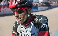 Marco Marcato (ITA/UAE-FlyEmirates) post race<br /> <br /> 115th Paris-Roubaix 2017 (1.UWT)<br /> One day race: Compiègne > Roubaix (257km)