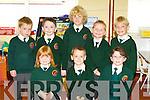 Scartaglen NS junior infants enjoying school on Wednesday was front row l-r: Maggie Riordan, Jason Brosnan, Eimear Tangney. Back row: Dylan Herlihy, Sean Butler, Wojek Witkowski, Gary Boyle and Michael Horan..