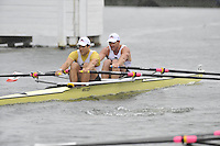 Henley, GREAT BRITAIN, Double Sculls Challenge Cup, California Rowing Club. Bow, Wesley PIERMARINI and Elliot HOVEY, 2008 Henley Royal Regatta  on Sunday, 06/07/2008,  Henley on Thames. ENGLAND. [Mandatory Credit:  Peter SPURRIER / Intersport Images] Rowing Courses, Henley Reach, Henley, ENGLAND . HRR