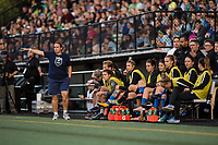 Seattle, WA - Sunday, September 24th, 2017: Laura Harvey during a regular season National Women's Soccer League (NWSL) match between the Seattle Reign FC and FC Kansas City at Memorial Stadium.