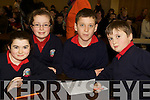 Pictured at the Tralee Credit Union Schools Quiz Brandon hotel on Sunday were Isabel Horgan, Aine O'Sullivan, Joseph O'Connor and Eimhin Lyons Listellick National School.