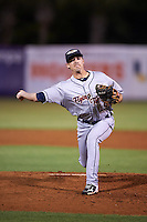 Lakeland Flying Tigers relief pitcher Gage Smith (19) delivers a pitch during a game against the Tampa Yankees on April 8, 2016 at George M. Steinbrenner Field in Tampa, Florida.  Tampa defeated Lakeland 7-1.  (Mike Janes/Four Seam Images)