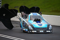 Jun 20, 2015; Bristol, TN, USA; NHRA funny car driver Jeff Diehl during qualifying for the Thunder Valley Nationals at Bristol Dragway. Mandatory Credit: Mark J. Rebilas-