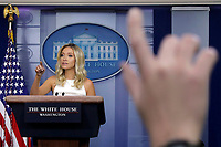 White House Press Secretary Kayleigh McEnany speaks during a press briefing at the White House in Washington on July 31, 2020. <br /> Credit: Yuri Gripas / Pool via CNP /MediaPunch