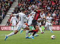 Bournemouth's Joshua King (Centre) is tackled by  West Ham United's Mark Noble (right) <br /> <br /> Photographer David Horton/CameraSport<br /> <br /> The Premier League - Bournemouth v West Ham United - Saturday 28th September 2019 - Vitality Stadium - Bournemouth<br /> <br /> World Copyright © 2019 CameraSport. All rights reserved. 43 Linden Ave. Countesthorpe. Leicester. England. LE8 5PG - Tel: +44 (0) 116 277 4147 - admin@camerasport.com - www.camerasport.com