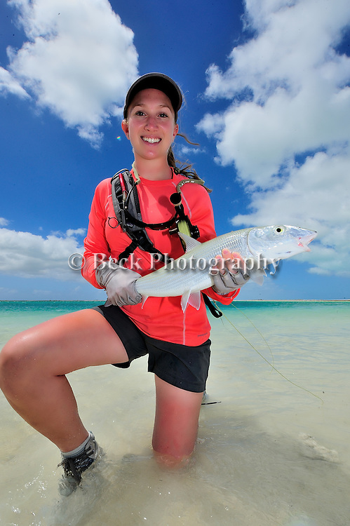 Leah Sodowick saltwater fly fishing for bonefish