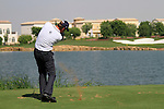 Robert Karlsson tees off on the par3 6th tee during Day 1 of the Dubai World Championship, Earth Course, Jumeirah Golf Estates, Dubai, 25th November 2010..(Picture Eoin Clarke/www.golffile.ie)