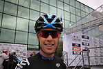 Richie Porte (AUS) Team Sky at sign on for the start of the 2015 96th Milan-Turin 186km race starting at San Giuliano Milanese, Italy. 1st October 2015.<br /> Picture: Eoin Clarke | Newsfile