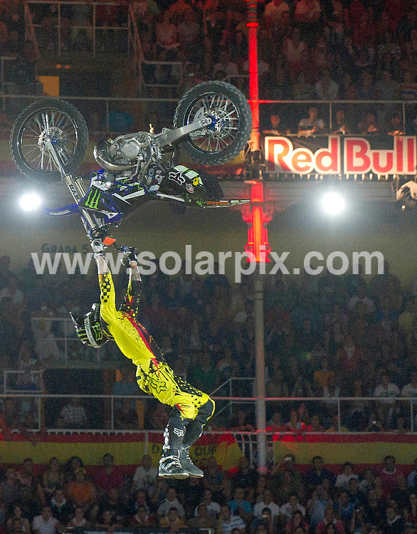 **ALL ROUND PICTURES FROM SOLARPIX.COM**                                             **WORLDWIDE SYNDICATION RIGHTS EXCEPT SPAIN - NO SYNDICATION IN SPAIN**                                                                                  Caption: Red Bull X Fighter 2011 at the Plaza de las Ventas, Madrid, Spain. 15 July 2011.This pic: Adam Jones                                                                         JOB REF: 13726 DMS Drake      DATE: 15_07_2011                                                           **MUST CREDIT SOLARPIX.COM OR DOUBLE FEE WILL BE CHARGED**                                                                      **MUST AGREE FEE BEFORE ONLINE USAGE**                               **CALL US ON: +34 952 811 768 or LOW RATE FROM UK 0844 617 7637**