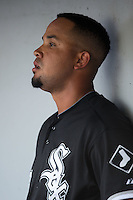 Jose Abreu (79) of the Chicago White Sox during the game against the Charlotte Knights at BB&T Ballpark on April 3, 2015 in Charlotte, North Carolina.  The Knights defeated the White Sox 10-2.  (Brian Westerholt/Four Seam Images)