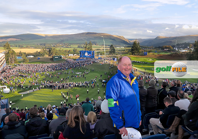 28 Sept 14  Johnny MacPherson had a birds eye view of The Ryder Cup at The Gleneagles Hotel in Perthshire, Scotland. (photo credit : kenneth e. dennis/kendennisphoto.com)