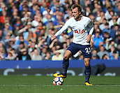 9th September 2017, Goodison Park, Liverpool, England; EPL Premier League Football, Everton versus Tottenham; Christian Eriksen of Tottenham controls the ball and looks up for a teammate to pass to