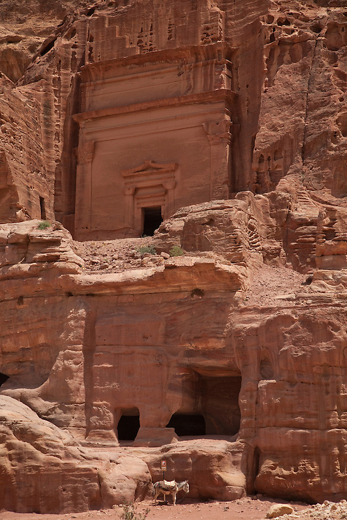 Petra, the capital of the Nabatean empire, is considered one of the Wonders of the World.