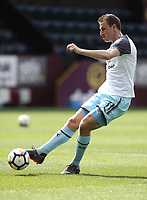 Burnley's Chris Wood during the pre-match warm-up <br /> <br /> Photographer Rich Linley/CameraSport<br /> <br /> The Premier League - Burnley v Leicester City - Saturday 14th April 2018 - Turf Moor - Burnley<br /> <br /> World Copyright &copy; 2018 CameraSport. All rights reserved. 43 Linden Ave. Countesthorpe. Leicester. England. LE8 5PG - Tel: +44 (0) 116 277 4147 - admin@camerasport.com - www.camerasport.com
