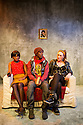 "London, UK. 03/01/2012. ""Fog"", by Toby Wharton & Tash Fairbanks, has its World Premiere at the multi-award-winning, Finborough Theatre. Picture shows: Kanga Tanikye-Bush, Benjamin Cawley and Annie Hemingway. Photo credit: Jane Hobson"