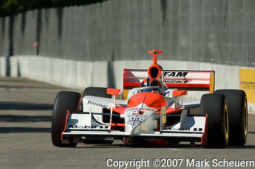 31 August 2007: Helio Castroneves  (BRA) at the Detroit Belle Isle Grand Prix, Detroit, Michigan.