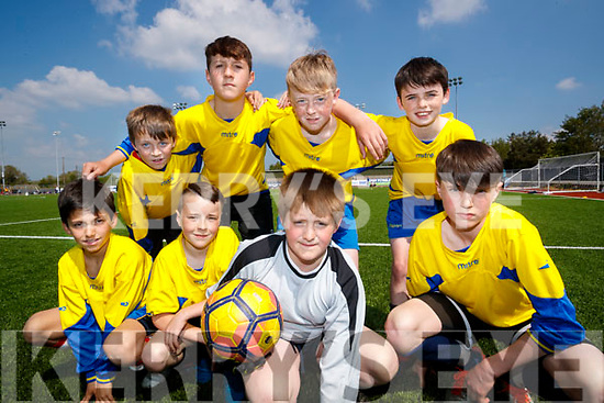 Pupils from St. John's National School, Kenmare, who took park in the Mounthawk Park, Tralee 5 aside County Finals soccer blitz on Wednesday, May 3rd were front l-r: Yago Cornide, Jack McDermott, Dara Casey and Adam Gul. Back l-r: Tom Crushell, Aidan Crowley, Dylan Wallace and Darren Allman.