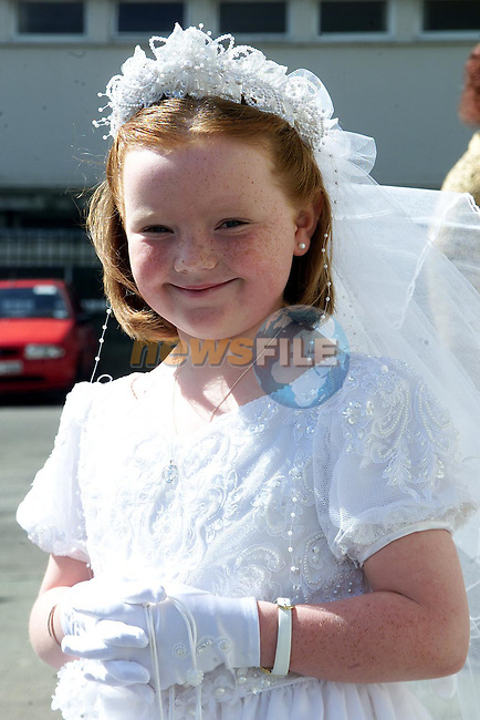 Helen Balfe from Pearse Park who made her First Holy Communion in Our Lady of Lourdes Church..Picture Paul Mohan Newsfile