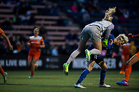 Seattle, WA - Saturday April 22, 2017: Jane Campbell and Megan Rapinoe during a regular season National Women's Soccer League (NWSL) match between the Seattle Reign FC and the Houston Dash at Memorial Stadium.