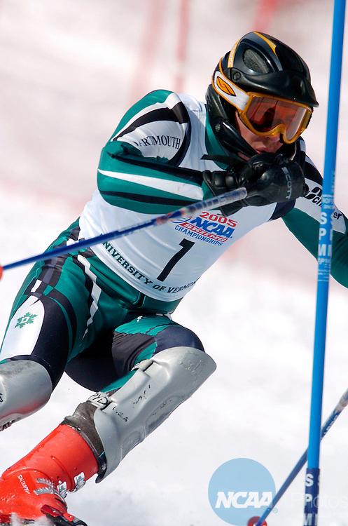 11 MAR 2005: David Chodounsky of Dartmouth College during the slalom event of the 2005 NCAA Men and Women's Skiing Championships held at Stowe Mountain Resort in Stowe, VT. ©Brett Wilhelm/NCAA Photos