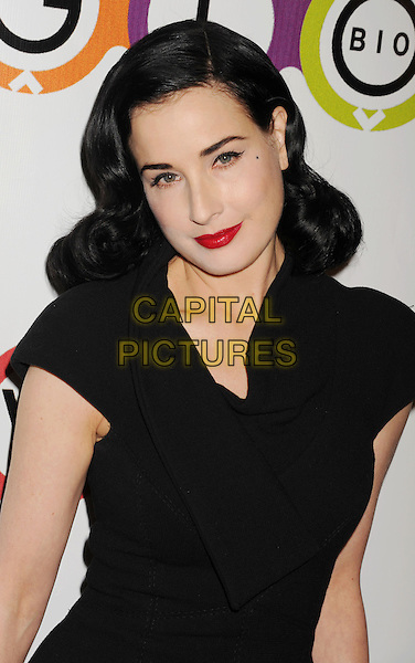 Dita Von Teese.The Opening of Kimberly Snyder's Glow Bio in West Hollywood in West Hollywood, California,.November 14th, 2012.half length black dress red lipstick .CAP/ROT/TM.©Tony Michaels/Roth Stock/Capital Pictures