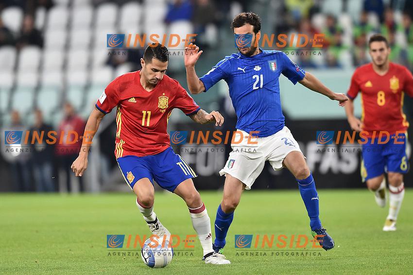 Vitolo Spain, Marco Parolo Italia <br /> Torino 06-10-2016 Juventus Stadium <br /> World Cup Qualifiers Italy - Spain / Italia - Spagna. Foto Andrea Staccioli / Insidefoto