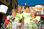 TEA TIME: Member of the Kerry Branch of Alzheimer Society held a coffee morning in the Brogue, Rock St. Tralee on Thursday morning as they prepare for the national tea day today (Thursday) May 3rd. From front l-r were: Kathleen Houlihan and Margaret Byrne. Back l-r were: Carol Leen and Nora Clifford..