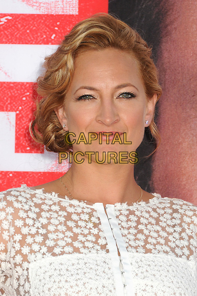 Zoe Bell<br /> &quot;The Internship&quot; Los Angeles Premiere held at the Regency Village Theatre, Westwood, California, USA.<br /> May 29th, 2013<br /> headshot portrait white lace <br /> CAP/ADM/BP<br /> &copy;Byron Purvis/AdMedia/Capital Pictures